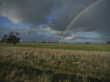Rainbow over Fields at Kangaroo Island Photographic Print by Sam Abell