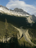 Mountain Peaks Along the Icefields Parkway Photographic Print by Michael S. Lewis