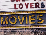 Close View of an Old Drive-In Theater Sign Photographic Print by Stephen St. John