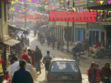 A Street Scene in Kathmandu Photographic Print by Michael Melford