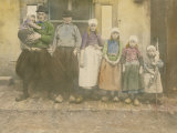 Early 20Th-Century Portrait of a Dutch Fisherman and His Family Photographic Print by George King