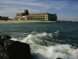 A View of the Seaside Convention Center and Casino in Asbury Park Photographie par Ira Block