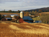Picturesque Farm Photographed in the Fall Photographic Print by Raymond Gehman