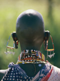 Portrait of an Elaborately Dressed African Seen from Behind Photographic Print by Karen Kasmauski