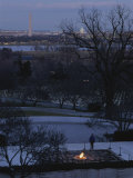 A Twilight View of the John F. Kennedy Grave Photographic Print by Sisse Brimberg