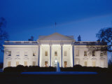 White House Facade at Twilight Photographic Print by Richard Nowitz