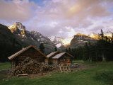 The Elizabeth Parker Hut, a Log Cabin in Yoho National Park Photographic Print by Michael Melford