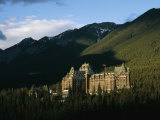 The Banff Springs Hotel, Nestled in an Evergreen Forest Photographic Print by Michael S. Lewis