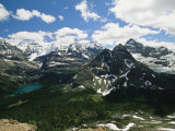 A Scenic View of Snow-Capped Rocky Mountains in Yoho National Park Photographic Print by Michael Melford