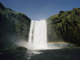 View of Skogafoss Waterfall in Iceland Photographic Print by Emory Kristof