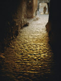 Cobblestone Alley in Ghardaia Photographic Print by Thomas J. Abercrombie