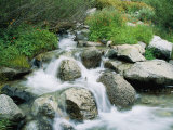 A Creek Flows over Granite Rocks in the Sierra Nevada Mountains Photographic Print by Marc Moritsch