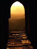 Sunlight Streams Through a Doorway in the Great Wall Fotoprint van Raymond Gehman