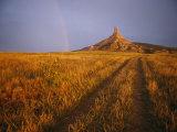 Schöne Ansicht der Landschaft des westlichen Nebraskas entlang dem Oregon-Trail Fotografie-Druck von Michael S. Lewis