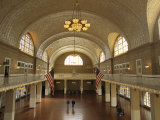 A View of the Great Hall on Ellis Island Photographic Print by Ira Block