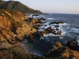 Crashing Surf on the Rocky Coast of California Photographic Print by Sisse Brimberg