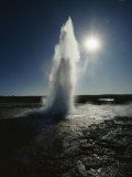 View of a Geyser Called Strokkur, the Churn, Located Near Geysir Photographic Print by Emory Kristof