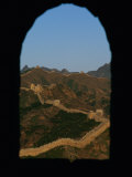 View of the Great Wall Through a Window Photographic Print by Raymond Gehman