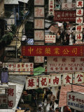 Elevated View of the Central Wet Market in Hong Kong Photographic Print by  xPacifica