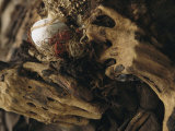 The Hands of a Mummy Exhumed at Puruchuco-Huaquerones Photographie par Ira Block