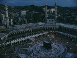 View of the Kaaba, Islams Holiest Shrine Photographic Print by Thomas J. Abercrombie