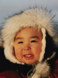 Portrait d'un enfant inuit Reproduction photographique par Paul Damien
