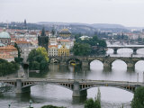 View down the Vltava River Through Prague Photographic Print by Taylor S. Kennedy