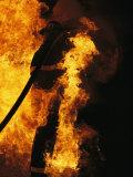 The Sewanee Volunteer Fire Department Practices Firefighting Fotografisk tryk af Stephen Alvarez