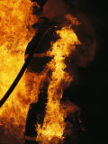 The Sewanee Volunteer Fire Department Practices Firefighting Photographic Print by Stephen Alvarez