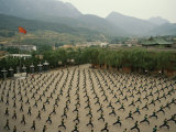 Children Practice Kung Fu in a Courtyard at the Ta Gou Academy Photographic Print by  xPacifica