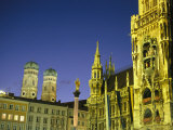 The Marienplatz in Munich at Night Photographic Print by Taylor S. Kennedy