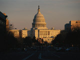 View of the Capitol at Sunset Looking East on Pennsylvania Avenue Photographic Print by Brian Gordon Green