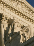 The Contemplation of Justice Sculpture outside the Supreme Court Photographic Print by Richard Nowitz