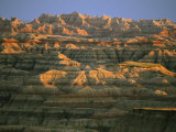 Sunset on the Geological Formations of the Badlands Photographic Print by Annie Griffiths Belt