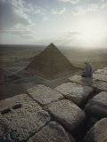 A View of the Pyramid of Chephren from the Pyramid of Giza Fotografie-Druck von Winfield Parks