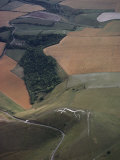 The Famed Uffington Chalk Horse Commands the Site of a Celtic Fort Fotoprint van James P. Blair