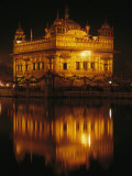 The Golden Temple is Reflected in a Pool of Holy Water Photographic Print by James P. Blair