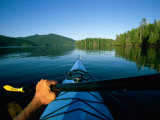 A Kayaker Sails Across This Serene Lake Photographic Print by Barry Tessman