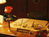 A View of Eleanor Roosevelts Desk, with a Misspelled Name Plate Given to Her by a Student Photographic Print by Ira Block
