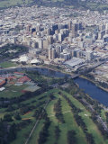 Aerial of Torrens River and the City of Adelaide Photographic Print by Jason Edwards
