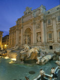 View at Dusk of the Trevi Fountain in the Piazza Di Trevi Photographic Print by Richard Nowitz
