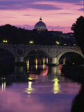 The Tiber River and the Dome of St Photographic Print by Richard Nowitz
