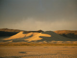 Twilight View of Large Sand Dune in Austin, Nevada Photographic Print by Kate Thompson