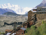 Mount Blackburn Looms above Kennicott Mines Photographic Print by Rich Reid