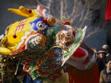 Dancing Dragon in a Chinese New Year Parade Photographic Print by Nadia M. B. Hughes