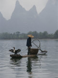 Cormorant Fisherman on the Li River Stampa fotografica di Gehman, Raymond