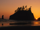 Sunset on Second Beach in Olympic National Park Photographic Print by Phil Schermeister