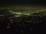 Night View of Los Angeles City Lights Seen from Griffith Observatory Photographic Print by Nadia M. B. Hughes