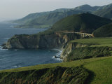 Scenic View of the Bridge over Bixby Creek and the Pacific Coast Photographic Print by Sisse Brimberg