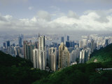 Hong Kong Island and the Bay with Kowloon on the Far Shore Photographic Print by Jason Edwards